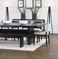 Decor Elegant Dining Table Bench For Inspiring Bedroom Furniture - Black and white dining table with chairs