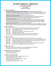 Air Force Resume Example by Learning To Write A Great Aviation Resume