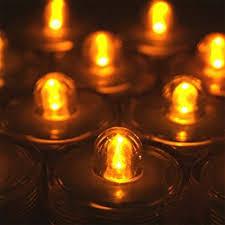 halloween tea lights amazon com submersible battery led 10 tea lights white home