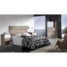 chambre adulte bois chambre adulte en bois mélaminé coloris blanc et cambrian achat