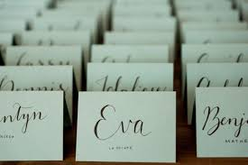 handwritten calligraphy wedding place cards cards for