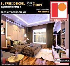 free sketchup model elegant bedroom by ping belonio vray interior