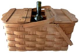 wine picnic baskets vintage split wood wine picnic basket omero home