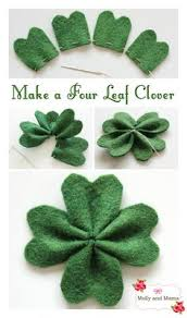 5 adorable st patrick u0027s day projects leaf clover felt projects