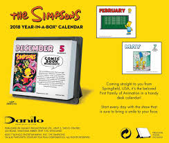 2018 easel desk calendar the simpsons desk calendar 2018 calendar club uk