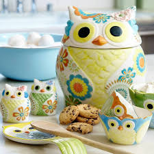 owl canisters for the kitchen charming owl kitchen decor 4 owl canisters tray set
