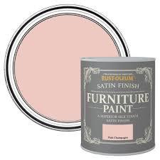 rust oleum rust oleum pink champagne satin furniture paint 125 ml