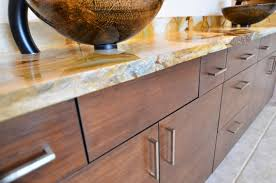 bamboo ultracraft cabinets in slab door style and chocolate stain
