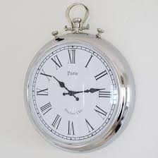 beautiful large silver wall clock from www bliss and bloom co uk