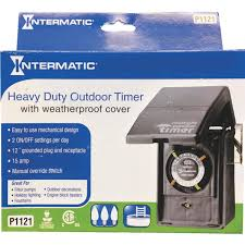 Intermatic 24 Hr Outdoor Timer by Intermatic Plug In Outdoor Timer Hb11k Do It Best