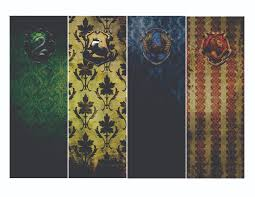 free hogwarts house bookmarks printable download free downloads