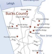 bridges of county map bucks covered bridge bike ride