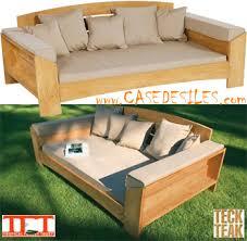 canape teck canapé en teck design lit de jour 3 pl arcut