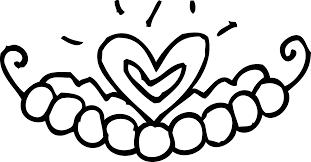 princess tiara coloring page free clip art image 16537