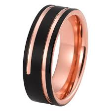 brushed gold wedding band mens gold wedding band tungsten wedding rings