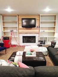 Built In Bookshelves Around Tv by Diy Built Ins Video Tutorial With Heart Pinterest