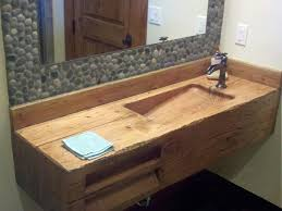 bathroom sink stylish awesome brown wood glass modern design