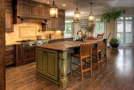 country kitchen designs blue design accent color on cabinets cone