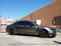 frozen mustang frozen black chrome wrap mercedes benz s63 cars pinterest
