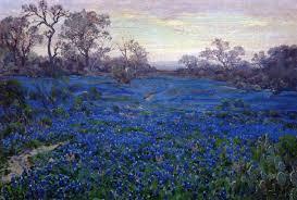 bluebonnets at twilight near san antonio 1919 1920 robert julian onderdonk