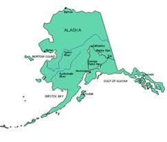 map of alaska cities alaska us state powerpoint map highways waterways capital and