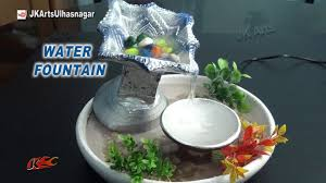 table top water fall diy how to make waterfall with waste diya easy tabletop water