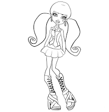 monster high coloring books monster high robecca coloring pages getcoloringpages com