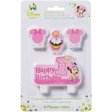 1st birthday candle minnie mouse 1st birthday candles 4 count party supplies
