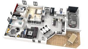 plan maison plain pied 3 chambres 100m2 maison moderne 3 chambres immobilier pour tous immobilier pour con