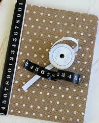 Notebook Cover Decoration Diy Burlap Notebook