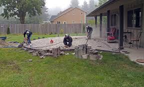 large patio pavers east olympia raised patio ajb landscaping u0026 fence