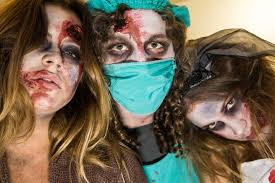 gory halloween costumes gym just got gory morphsuits u0027 fright mob of horror now spotted in