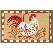 Round Rooster Rug Amazon Com Jellybean Area Accent Rug Funky Chickens Patio