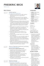 Tool And Die Maker Resume Quality Engineer Resume Samples Visualcv Resume Samples Database