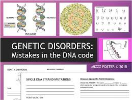 genetic disorders mistakes in dna mutations in dna bundle ppt