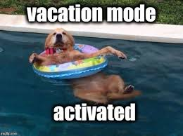 Meme Vacation - when you walk away from work on holiday imgflip