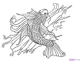 koi fish coloring page coloring page