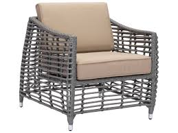 Zuo Outdoor Furniture by Zuo Outdoor Cartagena Aluminum Wicker Middle Chair In Espresso