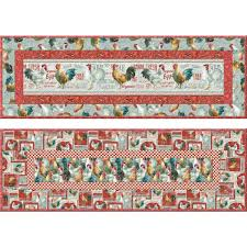 wilmington prints early to rise quilted table runner quilt kit 49