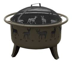 Fire Pit Grill Insert by Landmann Usa Patio Lights Fire Pit With Cooking Grate Deer And