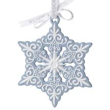 2012 wedgwood blue and white snowflake porcelain ornament
