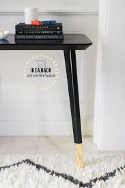 Gold Entry Table Ikea Hack Diy Entry Table