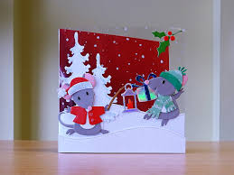 christmas card handmade marianne mice family die for more of