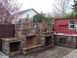 Pizza Oven Fireplace Combo by Outdoor Fireplace With Pizza Oven Traditional Portland By