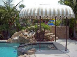How To Make Awnings Inviting Pool Awning Canopy Set With Sturdy Tubular Steel Frames