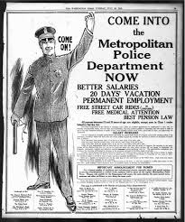 ad police come on join mpd in 1918 free street car rides in uniform