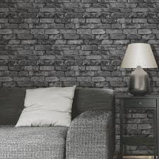 brewster fd31284 rustic brick wallpaper silver black amazon co
