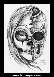 female sugar skull tattoo meaning