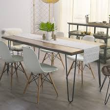 dining table with hairpin legs butcher block table on iron hairpin dining table with hairpin legs wood flynn hairpin dining table world market home decorating ideas
