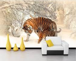 3d murals papel parede mural wallpaper animal tiger 3d stereoscopic